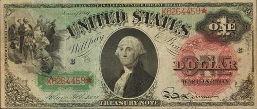 1869 One Dollar Bill