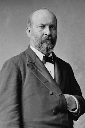20th President James A. Garfield, 1881