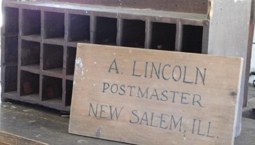 Abraham Lincoln New Salem Postmaster