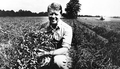 Jimmy Carter on his peanut farm