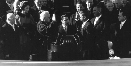 Kennedy takes the oath of office