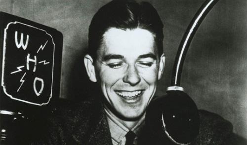 Reagan radio announcer