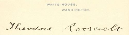 White House stationary - Roosevelt