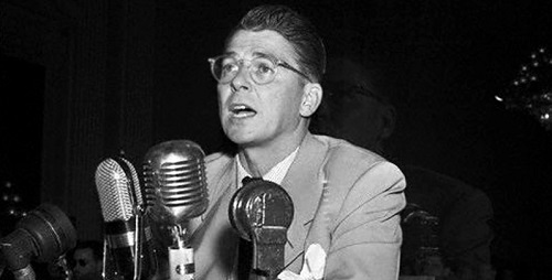 Ronald Reagan Testifying Before House Committee